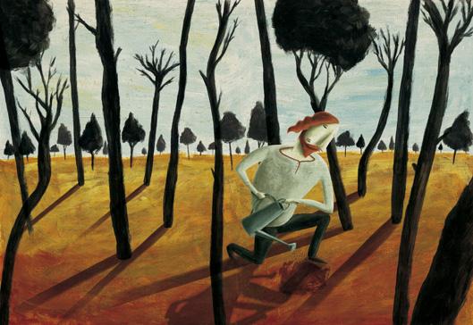 """Ilustraciones para el libro ilustrado """"Vuelta a empezar"""", seleccionadas para el catálogo de ilustradores Iberoamérica ilustra 2013"""